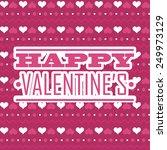 valentines day design  vector... | Shutterstock .eps vector #249973129