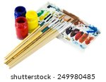 coloring equipment on white... | Shutterstock . vector #249980485
