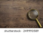 magnifying glass or loupe on... | Shutterstock . vector #249993589