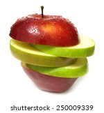 fresh apple   | Shutterstock . vector #250009339