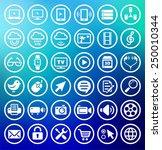 digital technology and internet ... | Shutterstock .eps vector #250010344