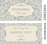 set of antique greeting cards ... | Shutterstock .eps vector #250013431