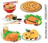 illustration food on white... | Shutterstock .eps vector #250014997