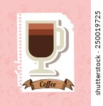 delicious coffee design  vector ... | Shutterstock .eps vector #250019725