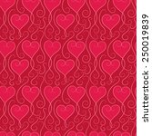 seamless pattern love heart | Shutterstock .eps vector #250019839