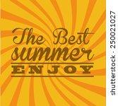 summer vacations design  vector ... | Shutterstock .eps vector #250021027