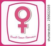 breast cancer design  vector... | Shutterstock .eps vector #250022335