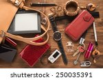 woman things   | Shutterstock . vector #250035391