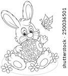 easter bunny   Shutterstock .eps vector #250036501