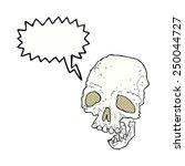 cartoon ancient spooky skull... | Shutterstock . vector #250044727