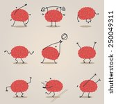 brain character | Shutterstock .eps vector #250049311