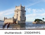 belem tower in lisbon  portugal | Shutterstock . vector #250049491