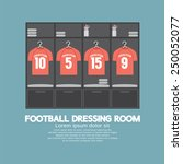 football or soccer dressing...   Shutterstock .eps vector #250052077
