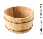 Objects  Wooden Tub Isolated O...