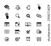seo services icons | Shutterstock .eps vector #250071829