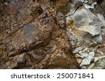 Close Up Of A Volcanic Rock In...