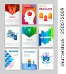 templates. set of web  mail ... | Shutterstock .eps vector #250072009