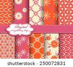 set of vector abstract flower... | Shutterstock .eps vector #250072831