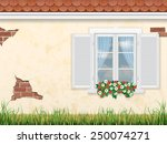 window on the background of the ... | Shutterstock .eps vector #250074271