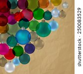 christmas bauble vintage... | Shutterstock .eps vector #250083529