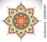 mandala. vintage decorative... | Shutterstock .eps vector #250084387