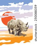 vector image of a rhino | Shutterstock .eps vector #250088359