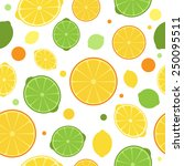 citrus seamless pattern  lime ... | Shutterstock .eps vector #250095511
