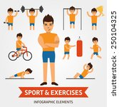 sport and exercises infographic ... | Shutterstock .eps vector #250104325