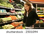 a pretty woman shopping for... | Shutterstock . vector #2501094