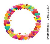 love hearts | Shutterstock .eps vector #250112314