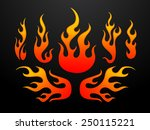 tribal fire flames set vector... | Shutterstock .eps vector #250115221