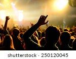 barcelona   jan 29  crowd  in a ...   Shutterstock . vector #250120045