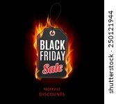 fire label. black friday... | Shutterstock .eps vector #250121944