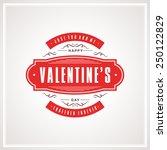 vintage valentines day... | Shutterstock .eps vector #250122829