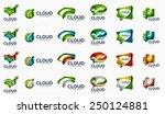 modern cloud company logo set ... | Shutterstock .eps vector #250124881