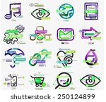 vector mega collection of line... | Shutterstock .eps vector #250124899