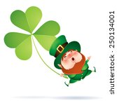 leprechaun and clover | Shutterstock .eps vector #250134001