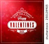 vintage valentines day... | Shutterstock .eps vector #250139905