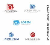 house abstract icons logo set | Shutterstock .eps vector #250139965