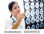 female doctor examining a brain ... | Shutterstock . vector #250145515