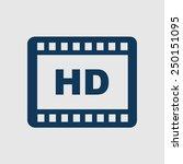 video icon. flat design style....