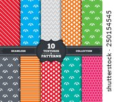 seamless patterns and textures. ... | Shutterstock .eps vector #250154545