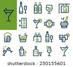drink alcohol beverage icons... | Shutterstock .eps vector #250155601