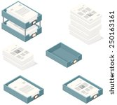 Isometric Office In And Out...