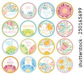 personalized candy sticker... | Shutterstock .eps vector #250165699