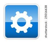 gear. vector icon. button | Shutterstock .eps vector #25016638