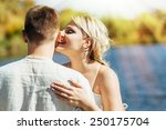 happy bride and groom on their... | Shutterstock . vector #250175704