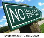 no way out road sign | Shutterstock . vector #250179025
