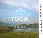 vector yoga illustration. name... | Shutterstock .eps vector #250179055