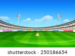 illustration of stadium of... | Shutterstock .eps vector #250186654